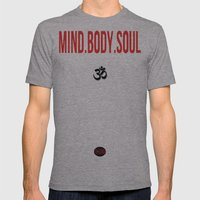 Mind.Body.Soul Mens Fitted Tee Athletic Grey SMALL