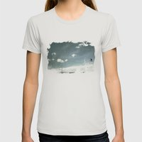 Skyred Womens Fitted Tee Silver SMALL