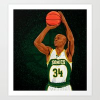 Ray Allen: Seattle Supersonics Art Print