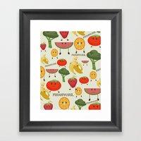 Fruity Collage Framed Art Print
