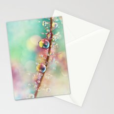 Rainbow Smoke Drops Stationery Cards