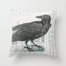 Raven of Marburg Throw Pillow