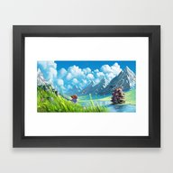 Howls Moving Castle Framed Art Print