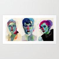 triptico Art Print
