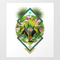 ▲ TROPICANA ▲ by KRIS TATE x BOHEMIAN BLAST Art Print