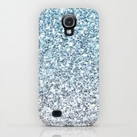 Galaxy S4 Cases featuring Silver Blue Glitters Sparkles Texture by Tees2go