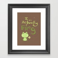 Actually A Frog Framed Art Print