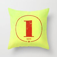 One 'Stamp' Throw Pillow