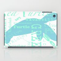 Abstract Sea Turtle iPad Case