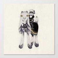 dark goat Canvas Print