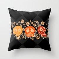 Day of the Dead ~ Dias de los Muertos Throw Pillow