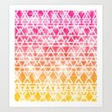 Tribal Watercolor Art Print