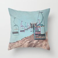 into the sky... Throw Pillow