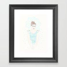 Rain Girl Framed Art Print