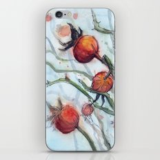 Rose Hips Abstract Watercolor iPhone & iPod Skin