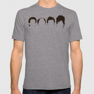 Seinfeld Hair Mens Fitted Tee Athletic Grey SMALL