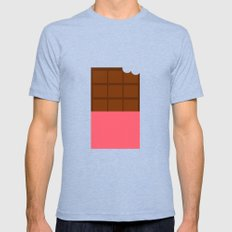 Chocolate Mens Fitted Tee Tri-Blue SMALL