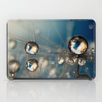 Royal Sea Blue Drops iPad Case