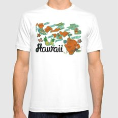 HAWAII SMALL White Mens Fitted Tee