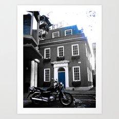 My visit, of Bricks & Blue Chrome Art Print