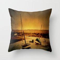Blakeney Boats Throw Pillow