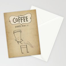 COFFEE  Winners Drink It! Stationery Cards