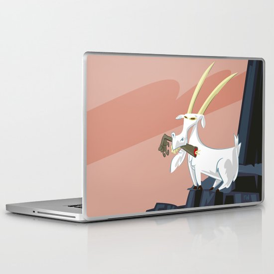 Trashmouth Goat, the Frost Giant Slayer Laptop & iPad Skin