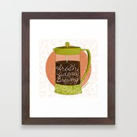 French Pressed Ideas  Framed Art Print