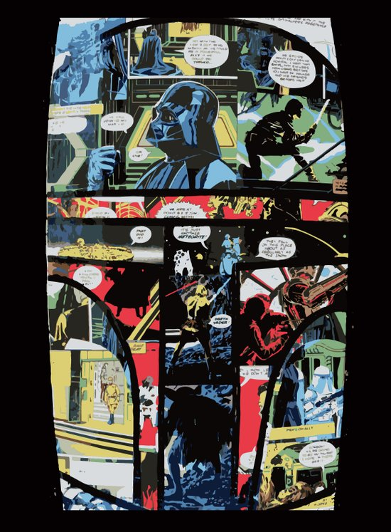 Boba Fett Collage Canvas Print