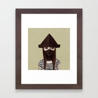 Ceci n'est pas un chapeau Framed Art Print