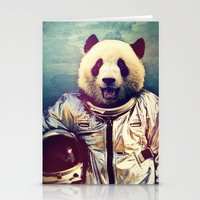 panda Stationery Cards featuring The Greatest Adventure by rubbishmonkey
