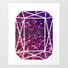 Glitter Gem Art Print