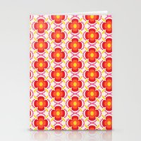 Retro happy bright floral 2 Stationery Cards