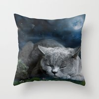 Sweet Dreams with Diesel Throw Pillow