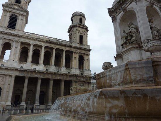 Parisian Fountain Art Print