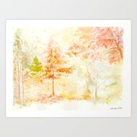 Memories Of Autumn Art Print