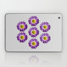 Beautiful Purple Flower On Gray Laptop & iPad Skin