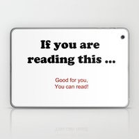 If you are reading this ... Laptop & iPad Skin