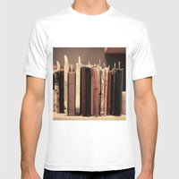 Old Books (brown) Mens Fitted Tee White SMALL