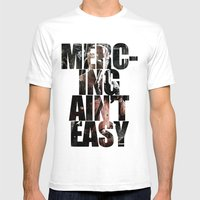 Merc-ing aint easy Mens Fitted Tee White SMALL