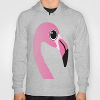 Cute Flamingo Portrait Hoody