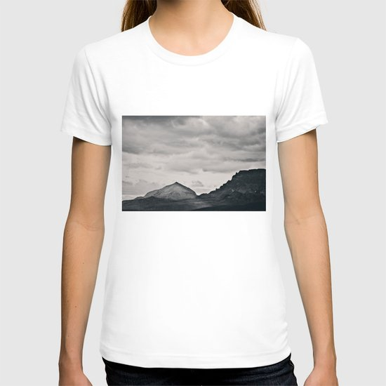 Mountain Peak and Plateau Black and White T-shirt