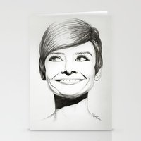 Women black & white Stationery Cards