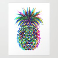 Pineapple CMYK Art Print
