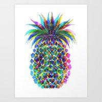 Pineapple CMYK Art Print