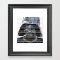 Darth Vader - StarWars - Pantone Swatch Art Framed Art Print