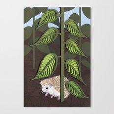 hedgehog - paper art print Canvas Print