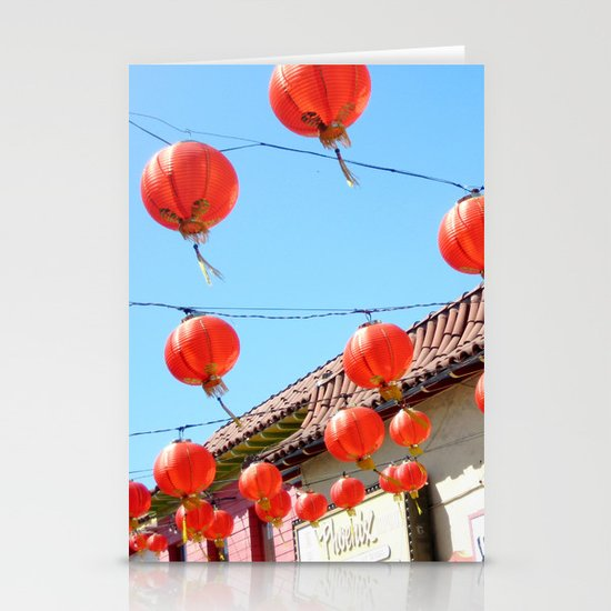 Raise the Red Lantern Stationery Card