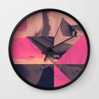 Triangular Magma Wall Clock