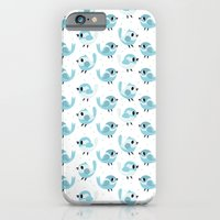 Happy Blue Birds Pattern iPhone 6 Slim Case